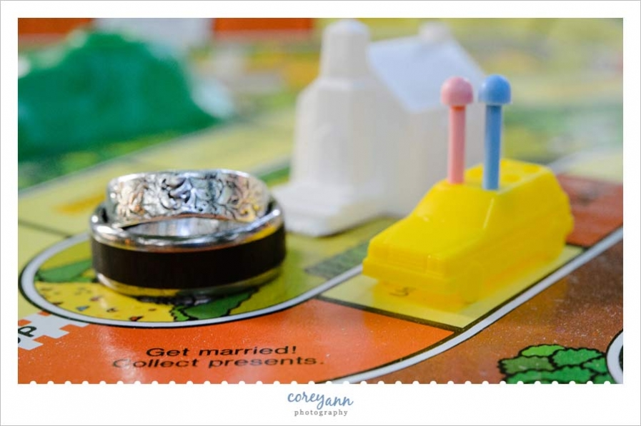wedding rings on get married piece of the game of life