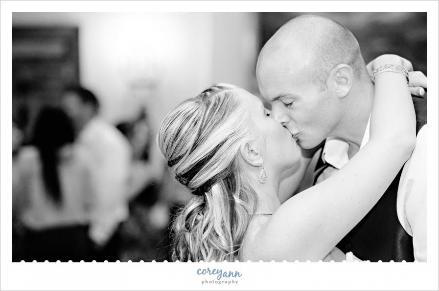 first dance at wedding reception in akron ohio