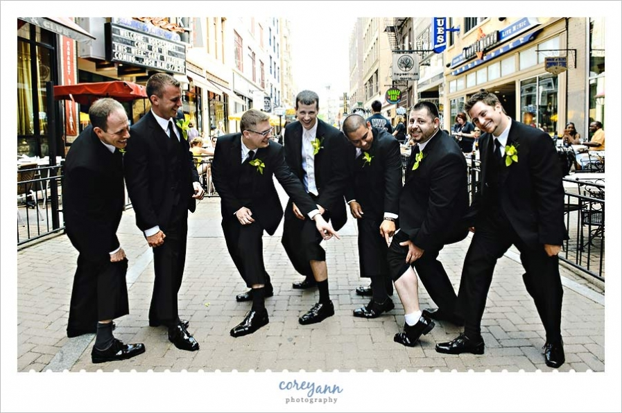 groomsman on east 4th street in cleveland