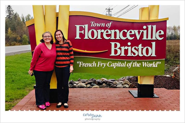 Welcome to Florenceville-Bristol New Brunswick sign