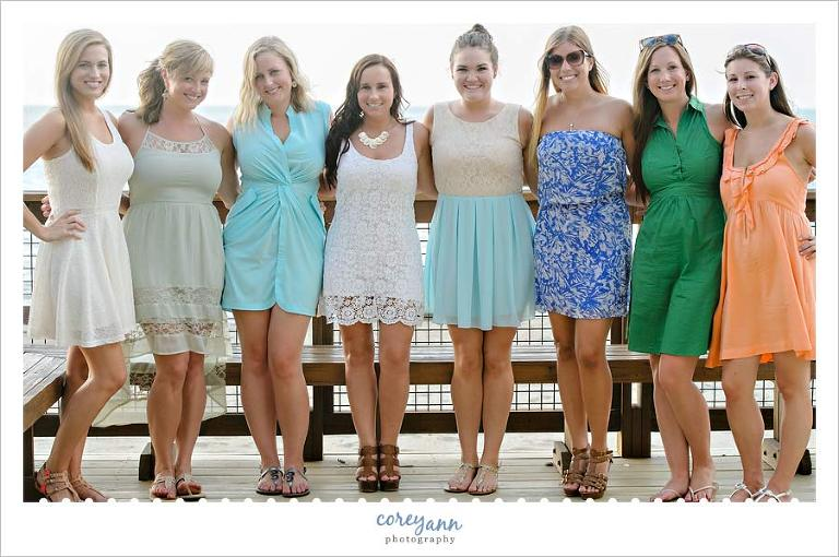 Bridesmaids During Rehearsal Dinner