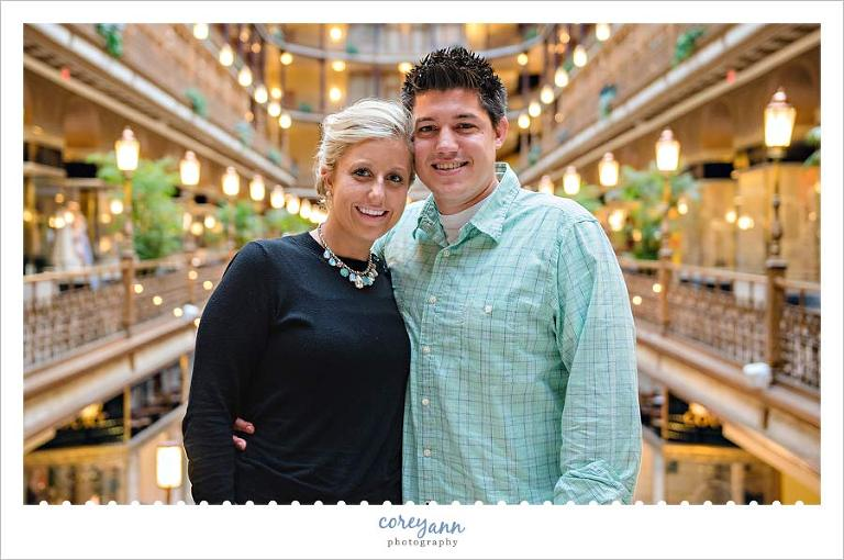 engagement session at the arcade in cleveland