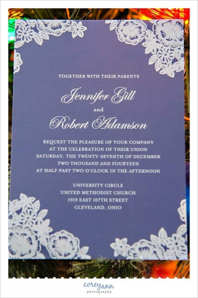 minted wedding stationery blue and white