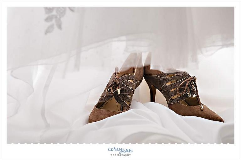 brown wedding bridal boots