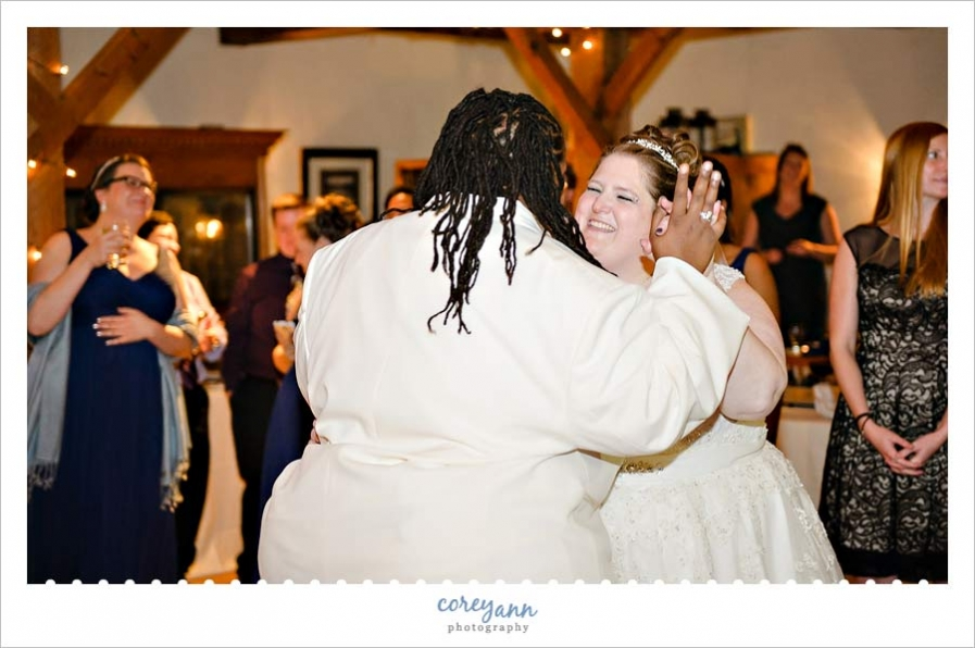 brides first dance at wedding reception at bittersweet farms