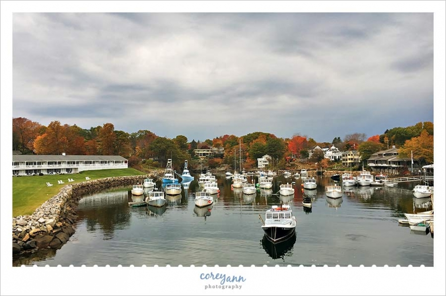 Boats in Perkins Cove Maine