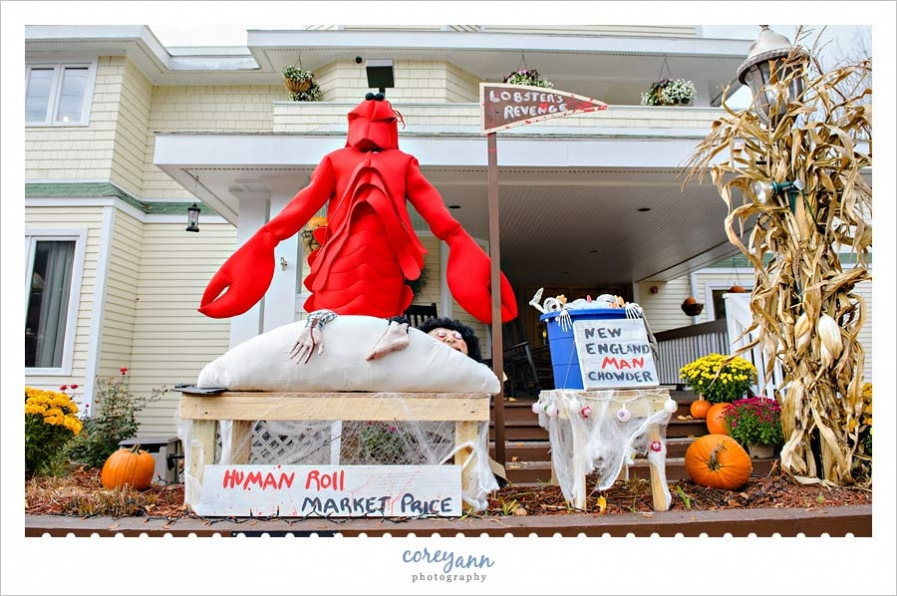 The Grand Hotel in Ogunquit decorated for Ogunquitfest
