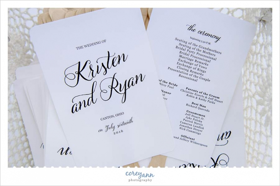 wedding fan programs for outdoor ceremony