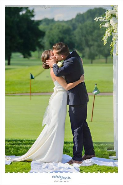 first kiss after wedding ceremony in canton ohio