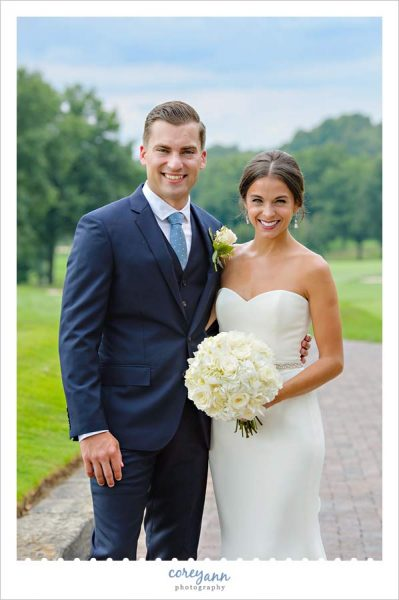 wedding portrait in July in Canton Ohio