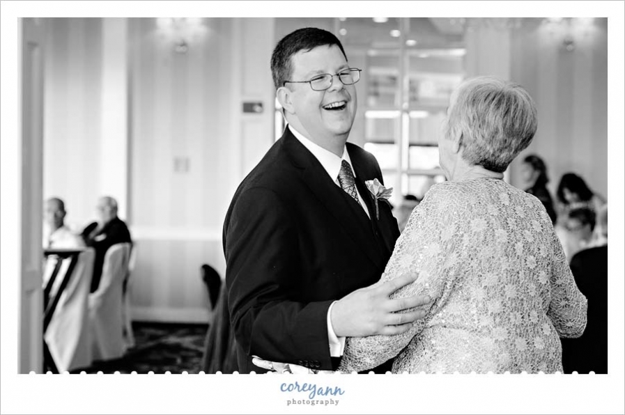 Mother Son Dance at Wedding reception in independence ohio