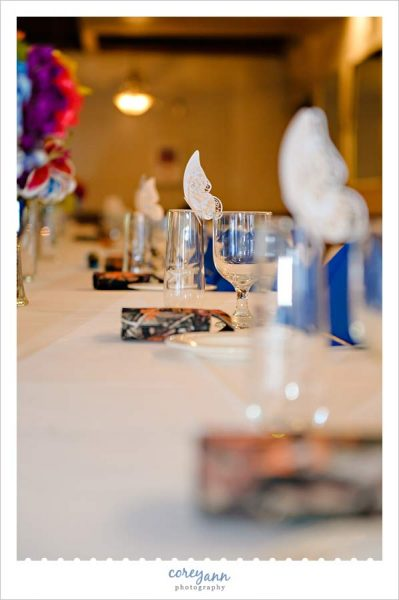 Butterfly Escort Cards for Wedding Reception