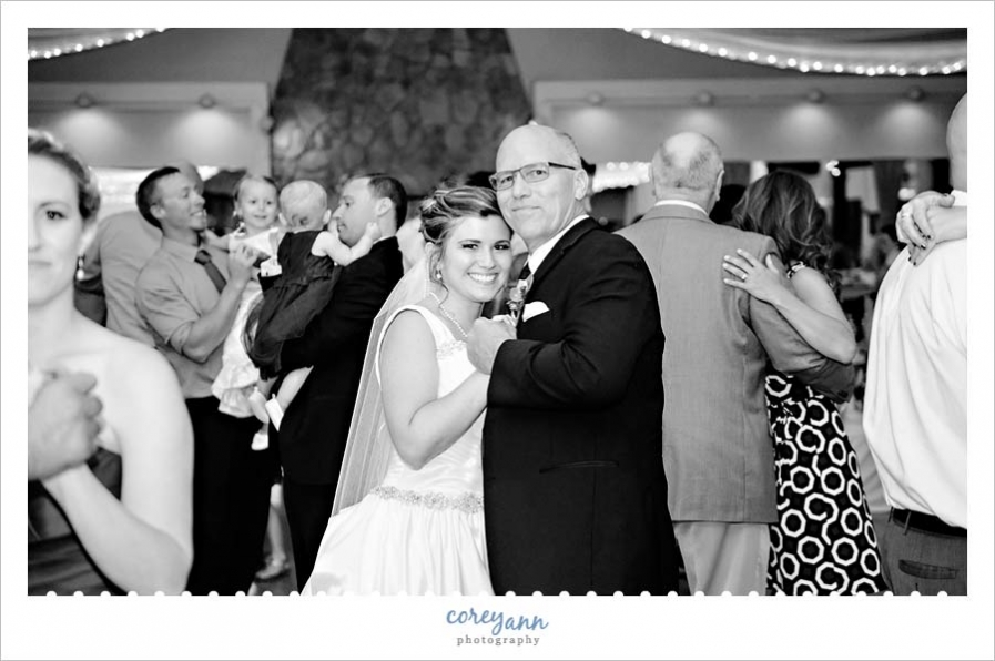 Father Daughter Dance During Wedding Reception