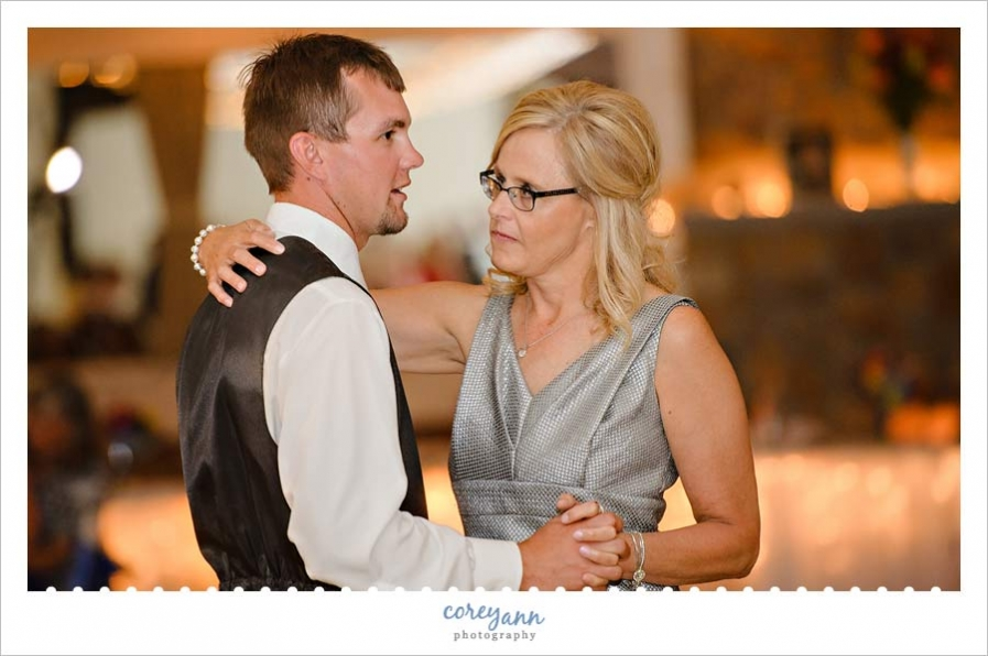 Mother Son Dance during Wedding Reception in Ohio
