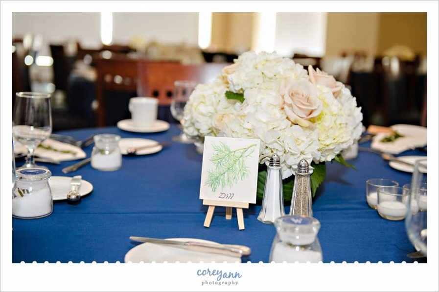 Spice themed reception decor at Cleveland Yacht Club Wedding