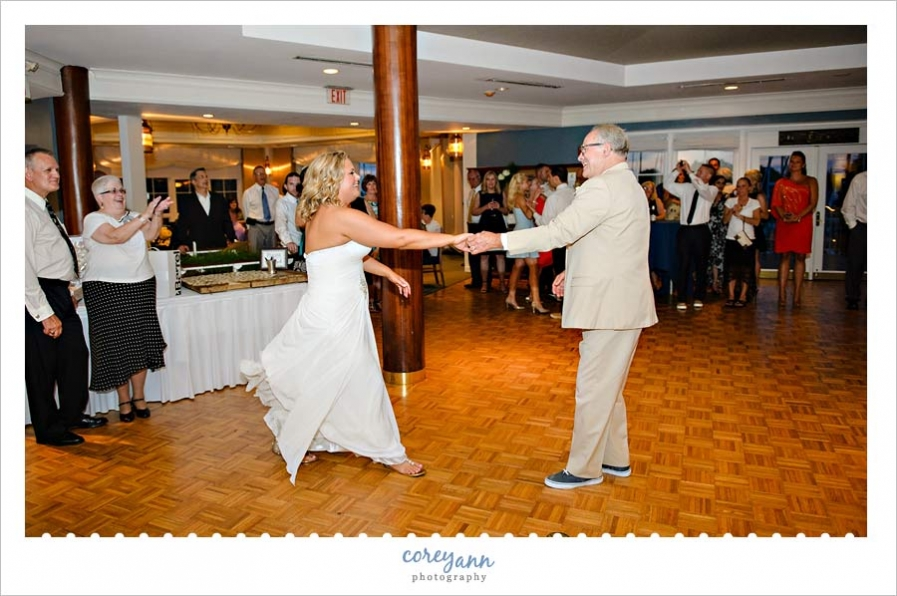 father daughter dance at cleveland yacht club wedding reception