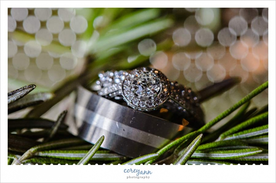 Wedding Rings with Rosemary