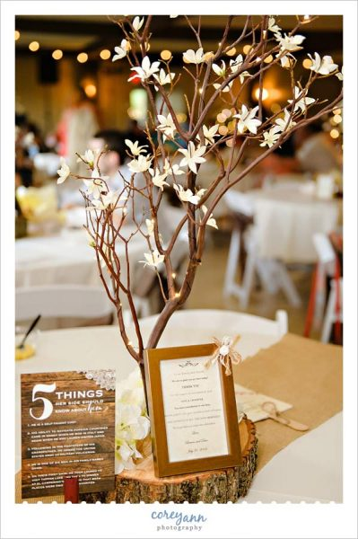 Wedding reception decor at pine view acres in ohio