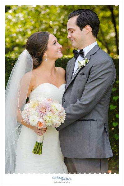 Bride and Groom wedding portrait at Cleveland Museum of Art