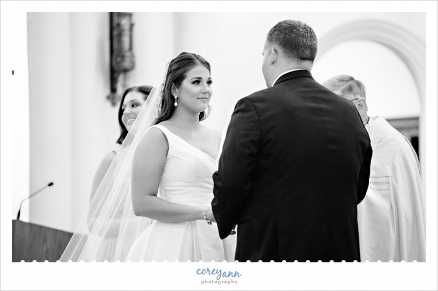 wedding ceremony at st vincent de paul in akron ohio