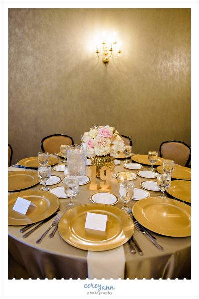 pink and gold reception decor at todaro