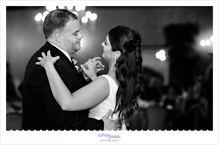 first dance at wedding reception at Todaro
