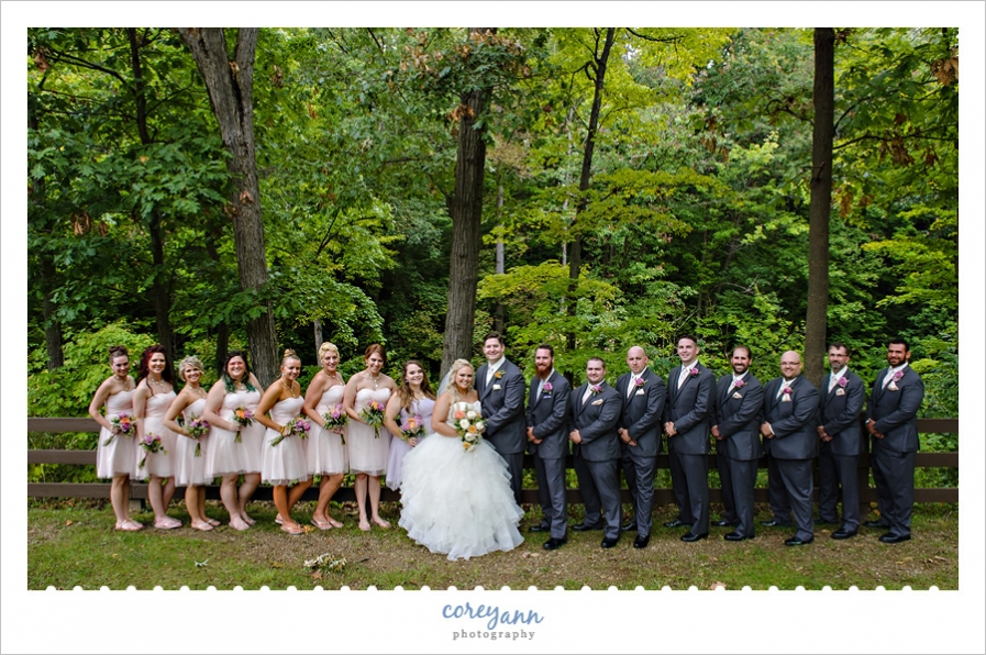 Bridal party outdoor photos at Brecksville Reservation