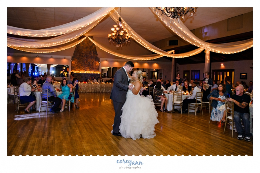 first dance during wedding reception at springvale ballrom
