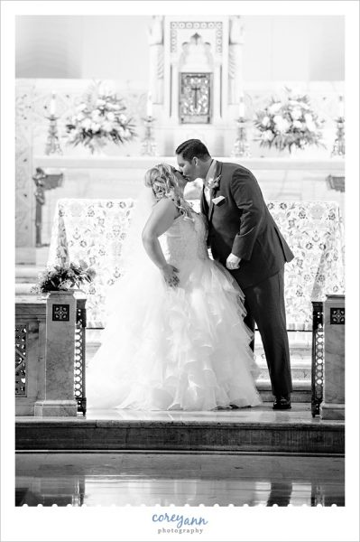 wedding ceremony at St. Ignatius of Antioch Church  in Cleveland