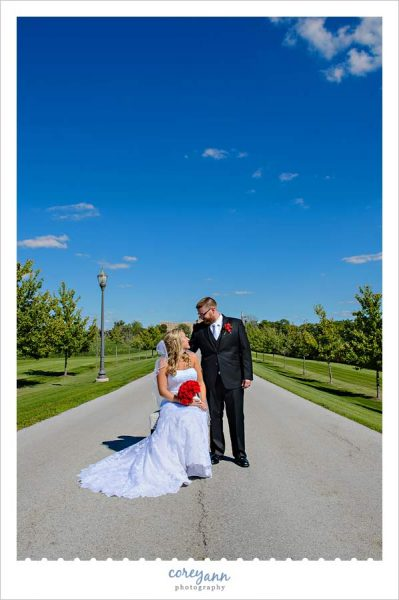 Bride and Groom wedding photos in St. Henry Ohio
