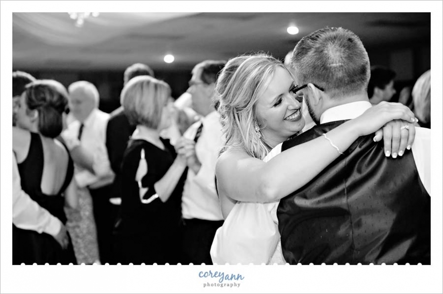 Bride and Groom Dancing at American Legion in Ohio
