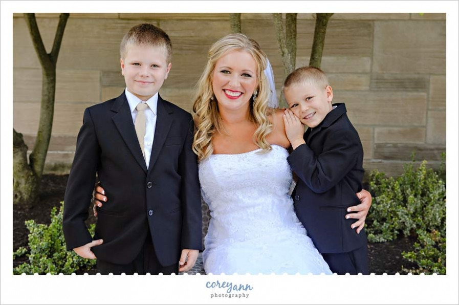 Bride with ring bearers