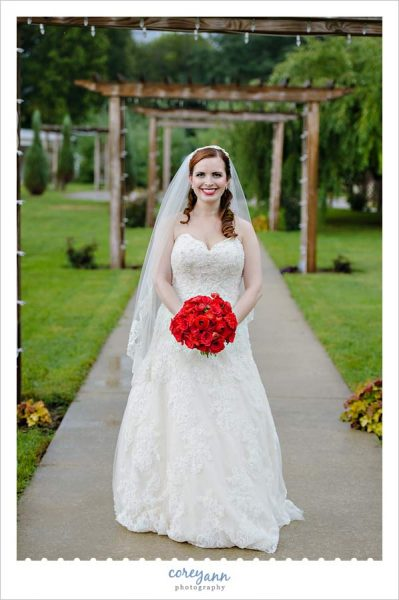 Bridal Portrait outside at Waters Edge Vineyard