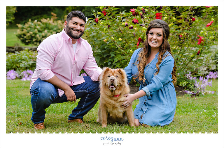 Engagement session at Canton Garden Center in September