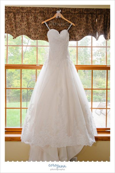 Pink Tint David Tutera Wedding Gown