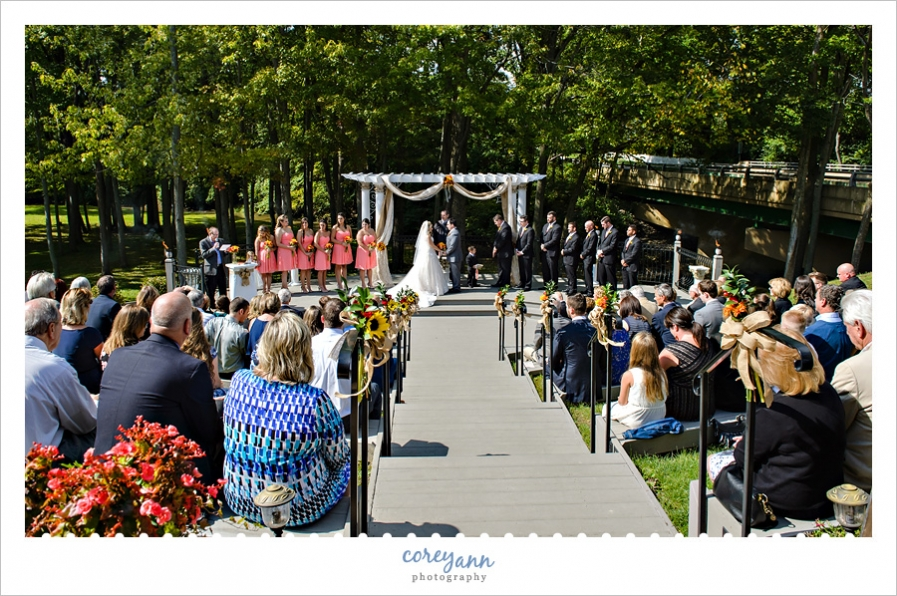 grand pacific wedding gardens ceremony in october
