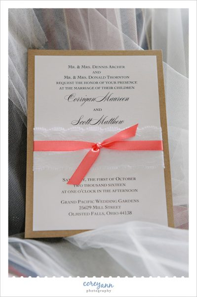 Custom wedding invitation from Hollo