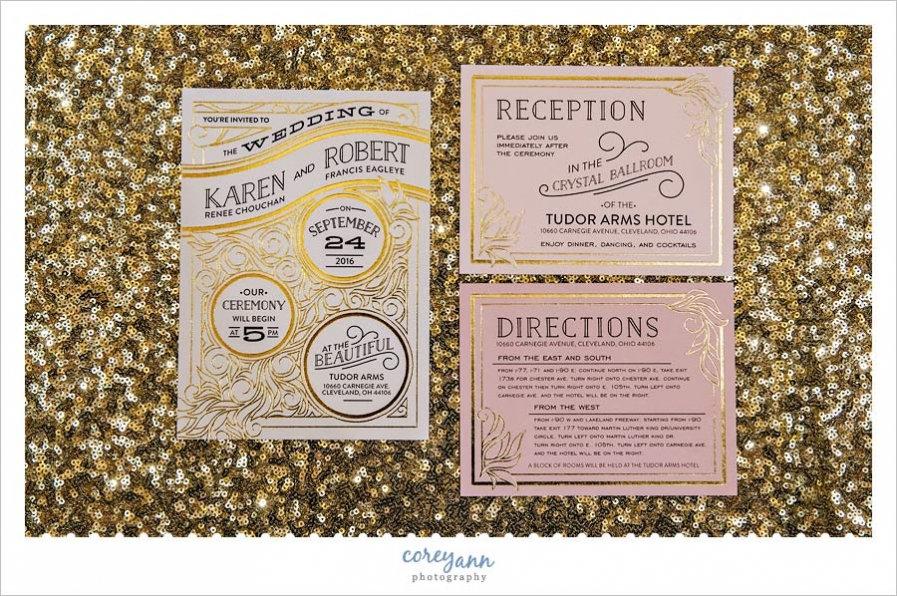 Invitation Suite from Minted for Gatsby Themed Wedding