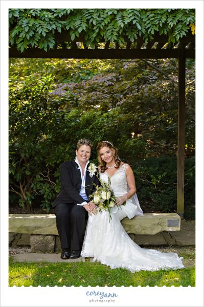 wedding portrait at the cleveland botanical garden
