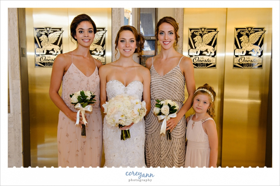Bride and her ladies at the Onesto Event Center in Canton Ohio
