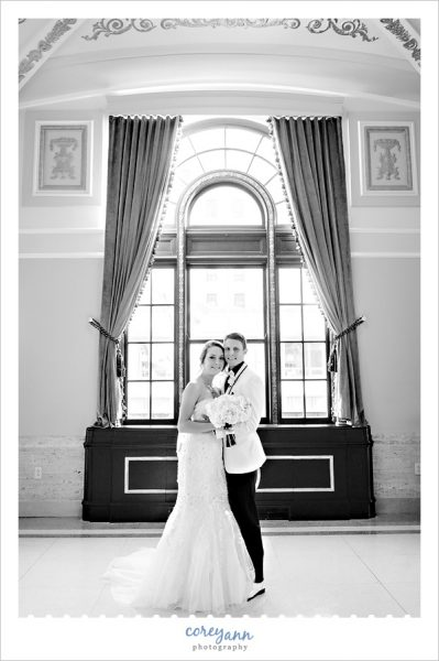 Wedding portrait at the Onesto Event Center in Canton Ohio
