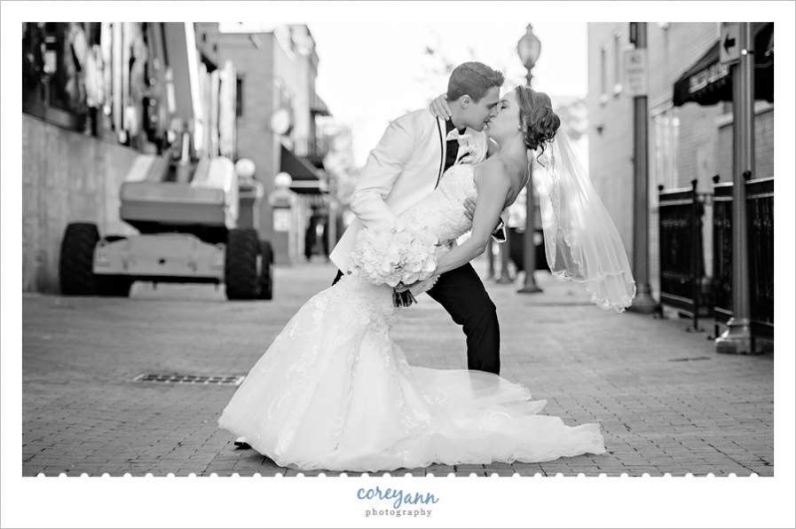 Wedding portrait in Downtown Canton Ohio