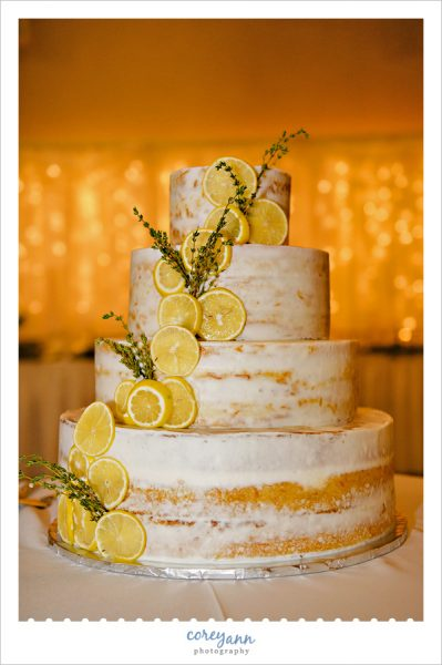 Naked Lemon Wedding Cake by Ann