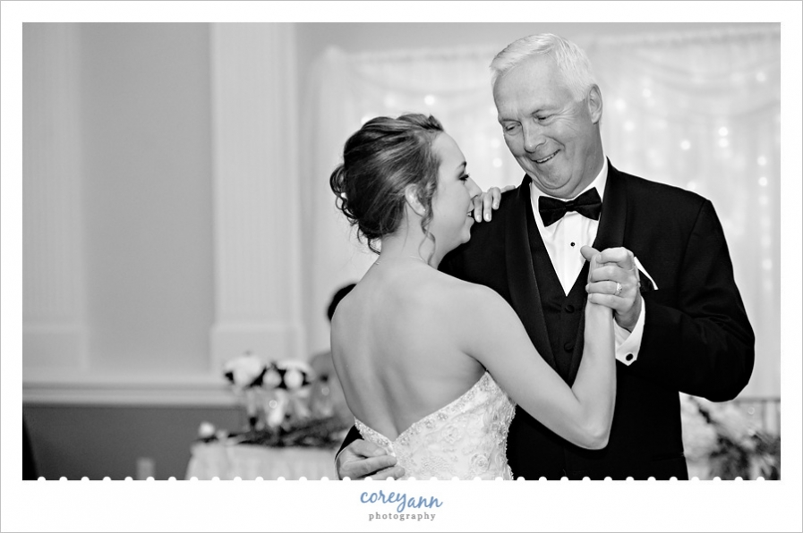 Father daughter wedding dance at Onesto Event Center
