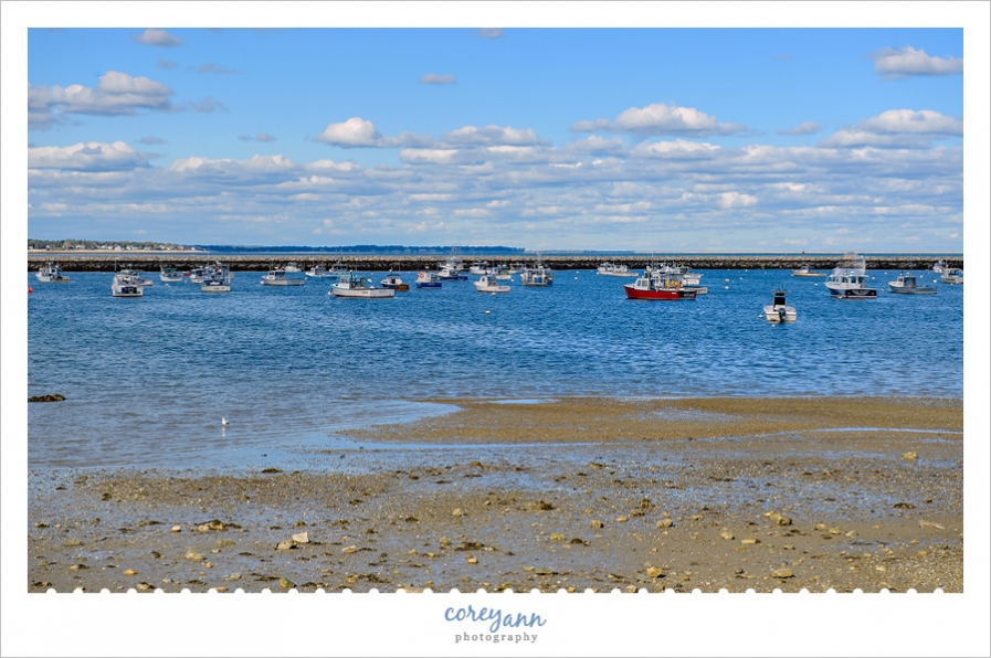 Shore and Boats of Plymouth Massachusetts