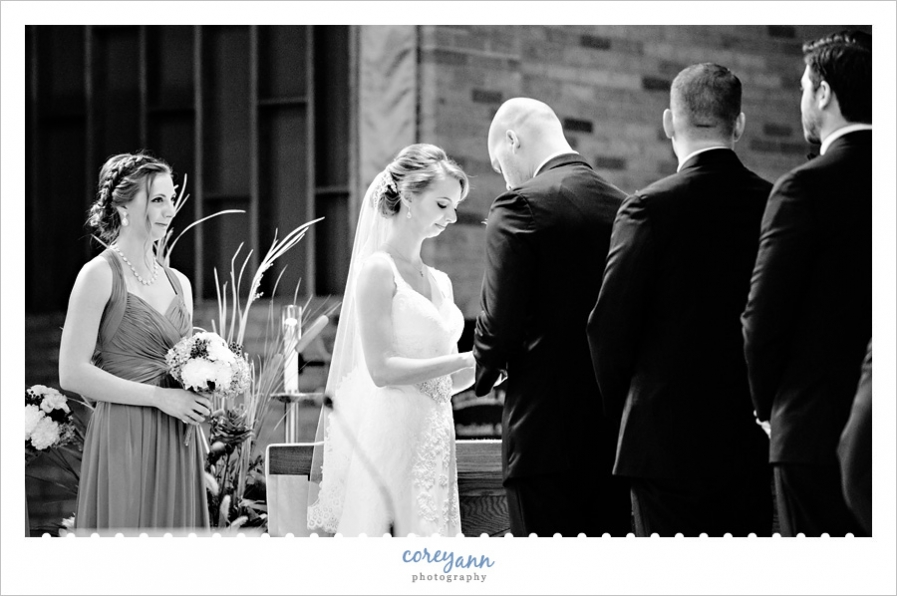 Wedding Ceremony in October at St Michael Church in Canfield