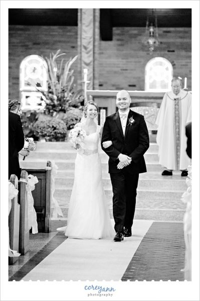 Wedding Processional at St Michael Church Canfield
