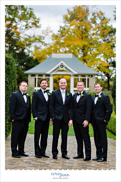 Groom and Groomsman in October in Youngstown Ohio