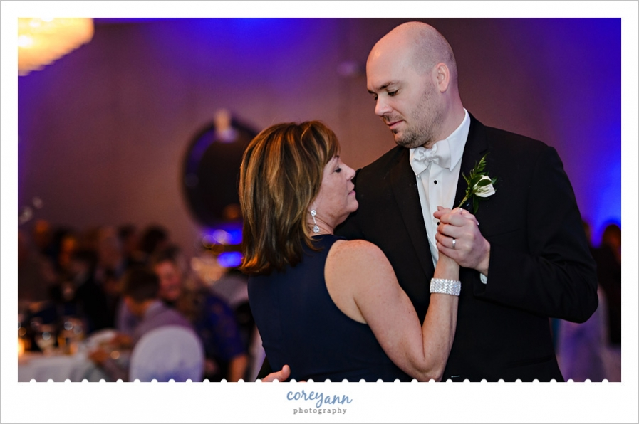 Mother Son dance at wedding reception at Mr Anthony