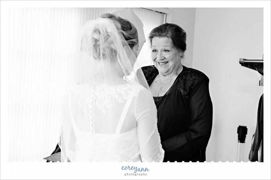Grandmother and Bride before wedding ceremony